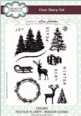 Creative Expressions - Festive Flurry Winter Scene Clear Stamp Set - CEC863